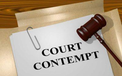 What Does Contempt Of Court Mean?